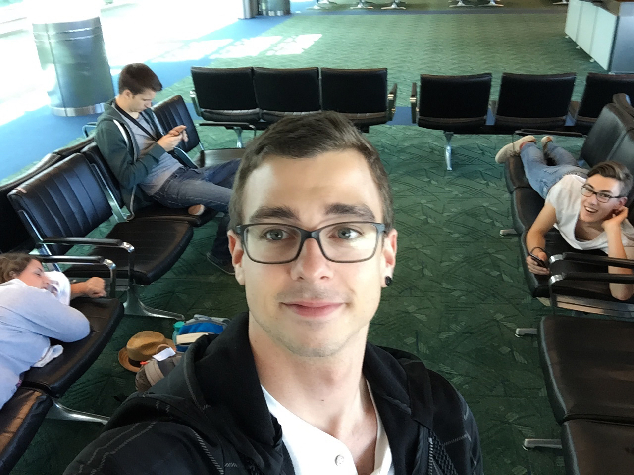 Ben & friends ready to board
